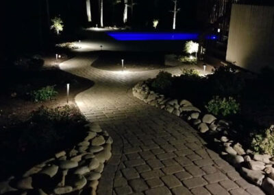 Patio and Walkway with Outdoor Lighting